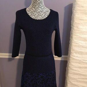 Gabby Skye Sweater Dress dark blue